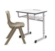 Conjunto pupitre escolar regulable first y silla escolar funny t-6