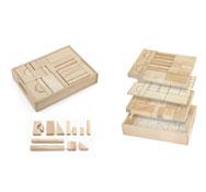 Construcción grandes bloques con caja 46 piezas lote 46 piezas