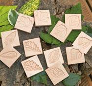 Azulejos de hojas sensoriales lote 12 piezas