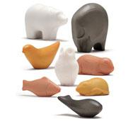 Esculturas sensoriales los animales lote 8 piezas