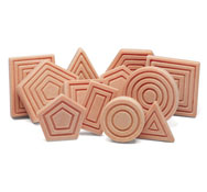 Formas sensoriales lote 12 piezas