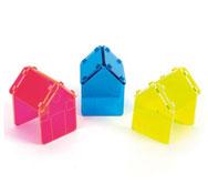 Casas acrílico trasparentes pack 3 piezas