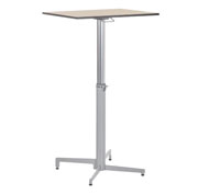 High table teacher adjustable in height. Fixed feet. Board 70 x 50