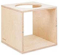 Cubo 40x40x40 abierto dos 2 cara y 1 con orificio.
