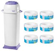 Pack de bienvenida - higiene  contenedor Maxi con 7 recargas 7 unid.