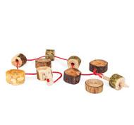Cosedor los troncos naturales