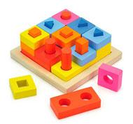 Encaje formas bloques para apilar