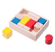 Bloques formas, colores y sonidos. 14 bloques