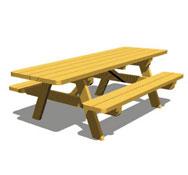 Mesa de picnic con bancos tp46pmr