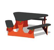 Mesa triangular para niñostabtri