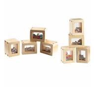 Bloques de cuentas sensoriales naturales pack de 8 bloques