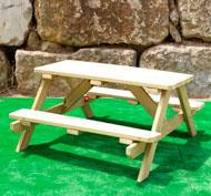 Mesa pícnic talla niño