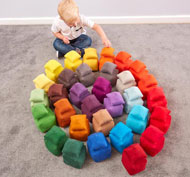 Gran conjunto los bloques blanditos las formas y las tonalidades 64 piezas