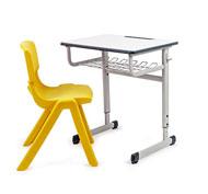 Conjunto pupitre escolar regulable first y silla escolar funny t-4