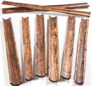 Canalización de agua de madera natural Pack de 8 unidades