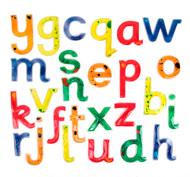 Letras minúsculas y mayúsculas blandas y resplandecientes pack de 52 piezas