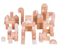 Bloques encajables naturales Pack de 100 unidades