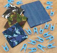 Kit crear cabañas de juego camuflaje Pack de 21