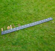 Cuadrados de pizarra numerados del 1 al 20 para exteriores Pack de 4 unidades