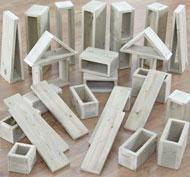 Bloques huecos gigantes para exteriores -set1 pack de 30 piezas