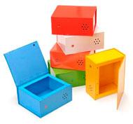 Cajas grabables rainbow Pack de 6 unidades