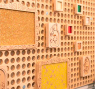 Juego de 30 marcos de inserción de tarjeta para panel muro set de 10