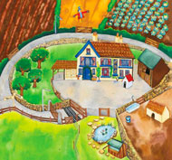 Alfombrilla mundo activo - granja