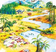 Alfombrilla mundo activo - dinosaurios