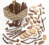 Canasto de maderas naturales Pack de 1 unidad