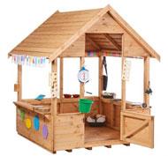 Gran casa abierta de madera para exterior la unidad