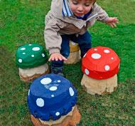 Las setas mágicas coloridos pequeñas set de 4 piezas