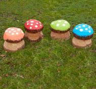 Las setas mágicas coloridos medianas set de 4 piezas