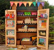 Cobertizo biblioteca para el patio de exterior la unidad