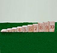 Bloques de números proporcionales 1-10 set de 10 piezas