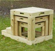 Cubos gigantes estructura de exterior la unidad