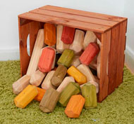 Caja grande com bloques de construcción set de 29 piezas