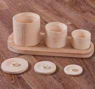 Botes con tapas los tamaños set de 3 piezas