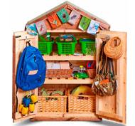 Armario casita de madera guarda materiales la unidad