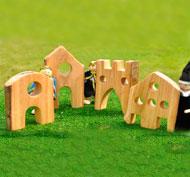 Casitas minimundos de madera encantadas set de 4 piezas
