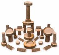 Bloques naturales de construcción los troncos set de 50 piezas