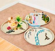 Bandejas espejos minimundos set de 3 piezas