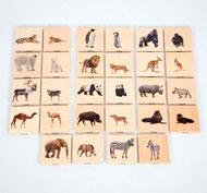Emparejamiento de animales salvajes por familias Set de 28 piezas