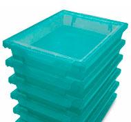 Tapa sola para cubetas de plástico arco iris ANTIBACTERIANA