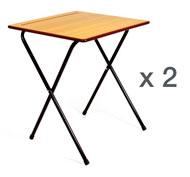Mesa Plegable Examen (Altura 73 cm) set de 2