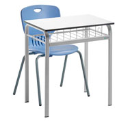 Easy desk with tray 70 x 50  + Anta S6 chair White/ Blue