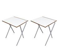 Mesa Plegable Estudio  60 x 60 cm - Pack 2 unidades set de 2