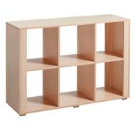 Mueble alto  montessori 6 casillas