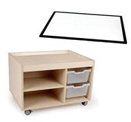 Conjunto Carro de actividades sensoriales + panel de luz A1