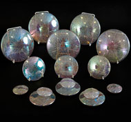 Piedras transparentes iridescentes lote de 15 piedras