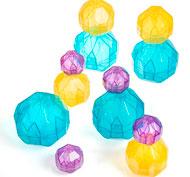 Piedras multicolor los prismas lote de 12 rocas
